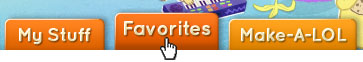 Favorites Tab in Profile